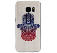 Palm Pattern TPU Material Phone Case for Samsung Galaxy S7/S7 edge/S7 Plus