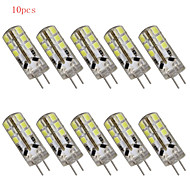 10 stuks HRY G4 3W 24 SMD 2835 180LM LM Warm wit / Koel wit T Decoratief 2-pins LED-lampen DC 12 V