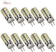 Luci LED Bi-pin 24 SMD 2835 HRY T G4 3W Decorativo 180LM LM Bianco caldo / Luce fredda 10 pezzi DC 12 V