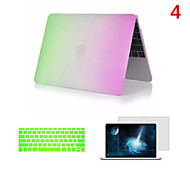 2016 Newest Rainbow PVC MacBook Case with Keyboard Cover and Screen Flim for  MacBook Air 11.6 inch