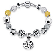 Bracelet Charm Bracelet / Vintage Bracelet Alloy / Silver Plated Party / Daily / Casual Jewelry Gift Yellow,1pc