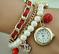 Women's Pearl Bracelet Watch Korean Fashion Anchor Pendant Watch Cool Watches Unique Watches