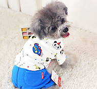Dog Coat Blue / Pink Dog Clothes Winter Fashion