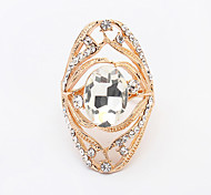Women's European Personality Fashion Shiny Rhinestone Ring