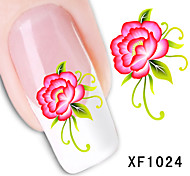 11sheets  Mixed Flower Water Transfer Sticker Nail Art DIY Beautiful STZ Flower11
