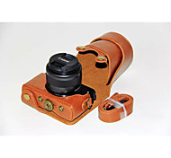 dengpin pu cas caméra sac en cuir couvrir avec bandoulière pour Canon EOS m10 15-45 lentille (couleurs assorties)