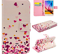 Pink Hearts Pattern PU Leather Wallet Case For Samsung Galaxy S7/S7 edge