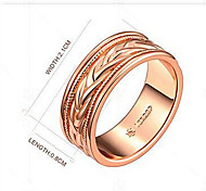 Mittelfingerring vergoldet 18K Gold Modisch Gold Schmuck Party 1 Set