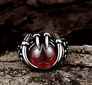 Ruby Restoring Ancient Ways is Exaggerated Stainless Steel Men's Ring