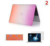 2016 Newest Rainbow PVC MacBook Case with Keyboard Cover and Screen Flim for  MacBook 12 inch