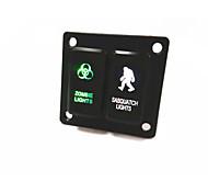 2 modo pannello interruttori combinazione per Toyota pulsante SPST pulsante interruttore riflettori