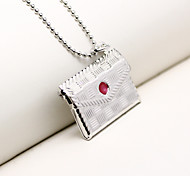 DIY Fashion Box Can Put Photo Pendant Necklace