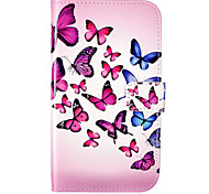 Butterfly Pattern Embossed PU Leather Case for Galaxy Grand Neo