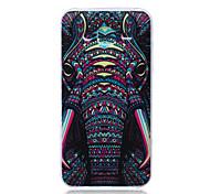 Blue Elephant Pattern TPU Material Phone Case for Samsung Galaxy J1/J1 Ace/J2/J3/J5/J7
