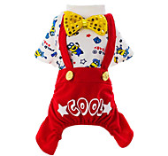 Dog Clothes/Jumpsuit Red / Blue Spring/Fall Cartoon Fashion