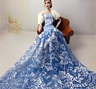 Barbie Doll - Abiti - Matrimonio - di Costumi in similcuoio di poliuretano - Azzurro cielo - Abiti
