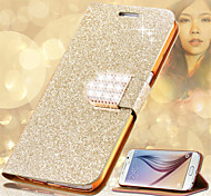 Fashion Women Crystal Diamond Flip Leather Phone Cover For Samsung Galaxy S3/S4/S5/S6/S6 Edge/S6 Edge+/S7/S7 Edge