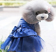 Dog Dress Red / Blue / Pink / Yellow Spring/Fall Bowknot Fashion