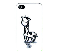 Cartoon Giraffe Pattern Hard Case for iPhone 4/4S