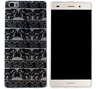Mobile Shell funda protectora cáscara suave de TPU transparente patrón del elefante para Huawei p8 Lite