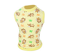 Dog Shirt / T-Shirt Green / Yellow Spring/Fall Fashion