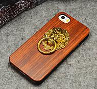 Para Funda iPhone 5 Soporte para Anillo / En Relieve Funda Cubierta Trasera Funda Fibra de Madera Dura Madera iPhone SE/5s/5