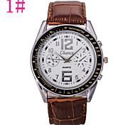Fashion Sport Military Men's Quartz Black Leather Watch Wrist Strap Watches Cool Watch Unique Watch