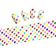 10pcs 100cmx4cm Heart and Star Glitter  Nail Foil Sticker  DIY Beauty  Nail Decorations  Sticker STZXK01-49