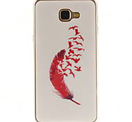 Red feather Patterns TPU+IMD Soft Case for Samsung Galaxy A9/A9000