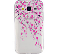 Flower  Pattern TPU Relief Back Cover Case for Galaxy Grand Prime/Galaxy Core Prime/Galaxy J5
