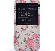 teste padrão de flor de alta qualidade pu Stand Case para Samsung Galaxy S7 / S7 edge / S7 mais (cores sortidas)
