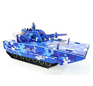 Jigsaw Puzzles 3D Puzzles Building Blocks DIY Toys Tank Paper Blue Model & Building Toy