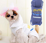 Dog Clothes/Jumpsuit / Clothes/Clothing White / Blue Spring/Fall Fashion