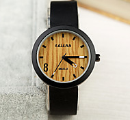 Mens Watches Wood Grain Wrist Watch Synthetic Leather Strap Man Womens Unisex Watch Women Watch Anniversary Gifts