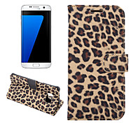 For Samsung Galaxy S7 Edge Wallet / Card Holder / with Stand / Flip Case Full Body Case Leopard Print PU Leather Samsung S7 edge / S7