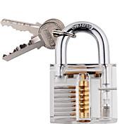 professionnelle cristal coupe visible de Cadenas serrure pour la formation de verrouillage de serrurier formateur avec 2 clés bon pour les