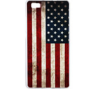 USA-Flagge Muster tpu imd Material der rückseitigen Abdeckung für huawei p8lite