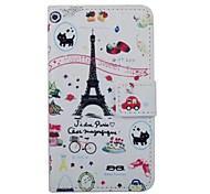 Eiffel Tower and Flowers Pattern Magentic Wallet Leather Case for Samsung Galaxy S7