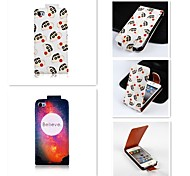 Crayon Small New Patten Up-down Turn Over PU Leather Full Body Case for iPhone 4/4S