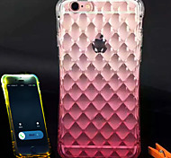 terceira geração de gradiente relâmpago caso multicolor impermeável telefone TPU para iPhone 6 / 6s (cores sortidas)