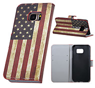 US Flag Magnetic PU Leather wallet Flip Stand Case cover for Samsung Galaxy S7 G930 / S7 edge G935