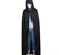 Black Halloween Hooded Cape MEDIEVAL Wedding Cloak Coat Shawl Halloween/Christmas/New Year