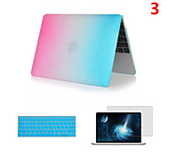2016 Top Selling Rainbow PVC MacBook Case with Keyboard Cover and Screen Flim for  MacBook Air 13.3 inch