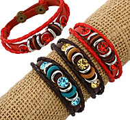 Fashion Charm Diamonds Stone Inlay Leather Bracelets