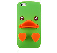 Cartoon Ducks Silica Gel Protective Sleeve Back Case for iPhone5/5S