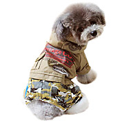 Dog Hoodie / Clothes/Jumpsuit Green / Yellow Winter Camouflage Fashion