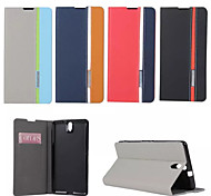 Retro Fashion Deluxe Leather flip Wallet Stand Case For Sony Xperia C5