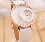 Women's  Fashion  Simplicity  Quicksand Quartz  Leather Lady Watch Cool Watches Unique Watches