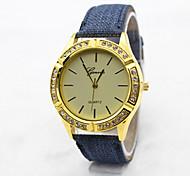Women's  Fashion  Simplicity  Rhinestone Scriptures Quartz  Fabric Lady Watch Cool Watches Unique Watches