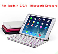 Seven Color Backlight with Protective Shell Type Intelligent Inductive Switch Bluetooth Keyboard for iPad mini3/2/1